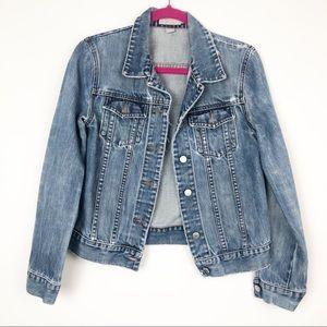 Jcrew distressed jean jacket